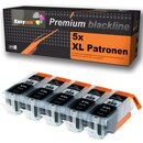 5 Alternativ PATRONEN Canon PGI-555XL Black mit Chip